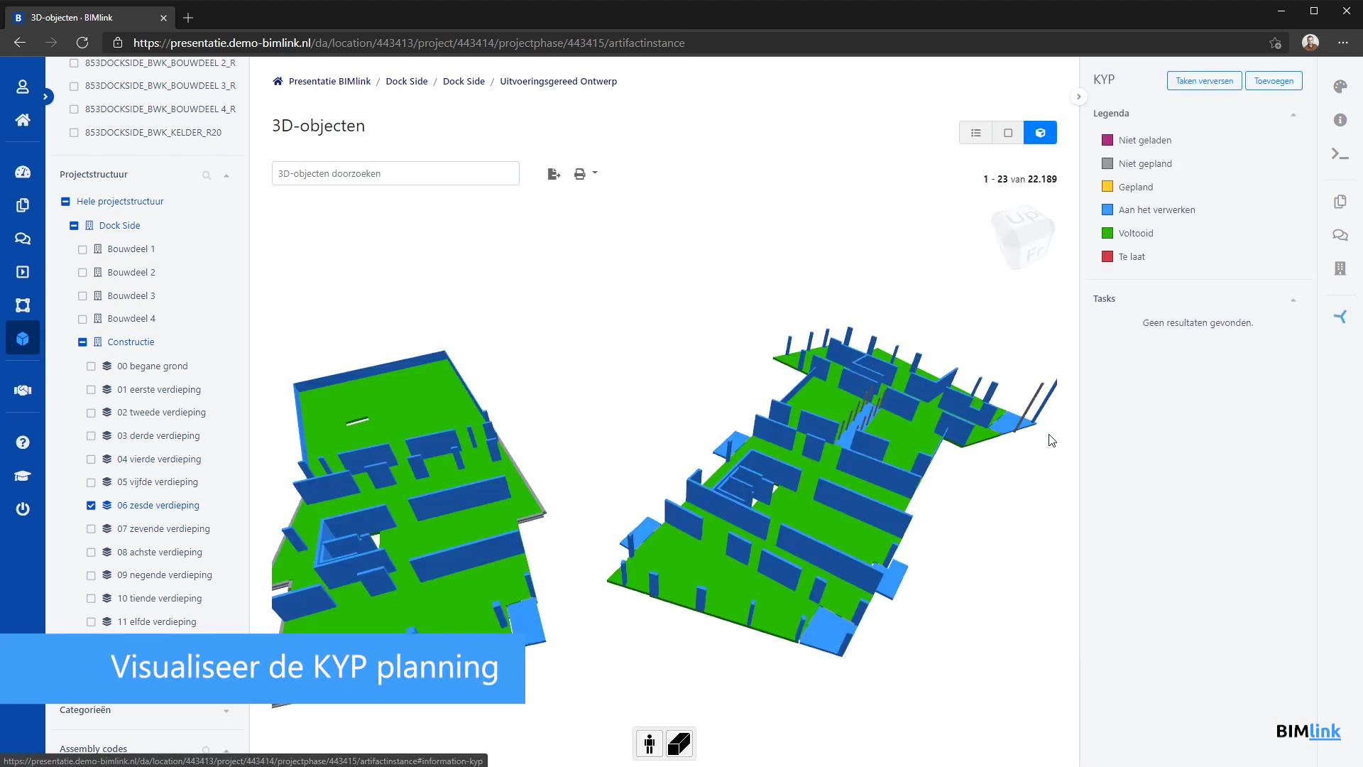 BIMlink en KYP Project maken planning zichtbaar in BIM-model met API-koppeling