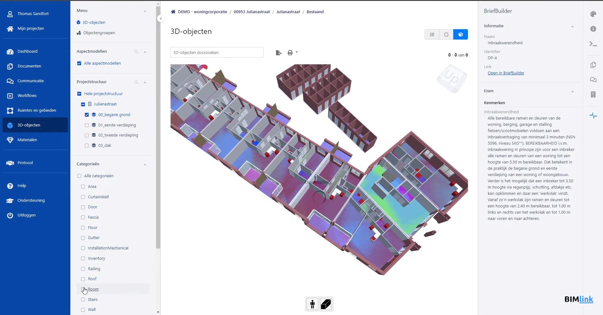 Koppeling BIMlink en BriefBuilder maakt gebouweisen onderdeel van 3D BIM-model
