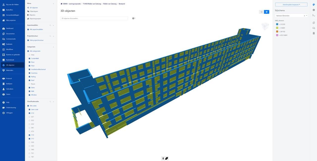 Koppeling BIMlink en Vastware visualiseert staat van onderhoud gebouwen